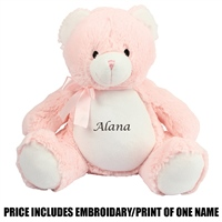 Mumbles Personalised New Baby Bear - Pink