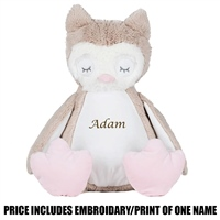 Mumbles Personalised Owl - Brown