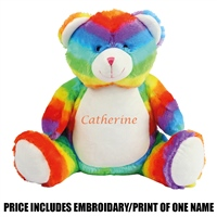 Mumbles Personalised Rainbow Bear - Multi