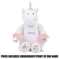 Mumbles Personalised Unicorn - White