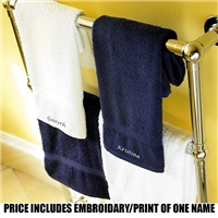 Towel City  Personalised Classic Range Hand Towel - Navy