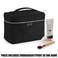 Westford Mill Personalised Canvas Vanity Case - Black