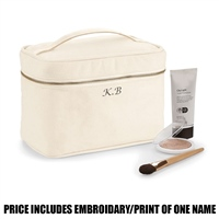 Westford Mill Personalised Canvas Vanity Case - Natural