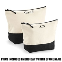 Westford Mill Personalised Dipped Base Accessory Bag - Black