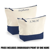 Westford Mill Personalised Dipped Base Accessory Bag - Navy