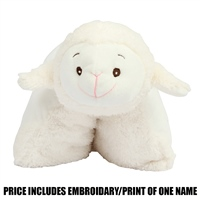 Mumbles Personalised Lamb Cushion - Cream