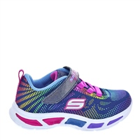 Skechers Girls S Lights-Litebeams - Gleam N Dream - Navy/Multi