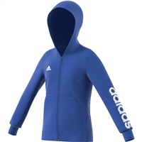 Adidas Girls Linear Full Zip Hoodie - Royal/White