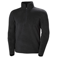 Helly Hansen Mens Feather Pile 3/4 Zip Top - Ebony