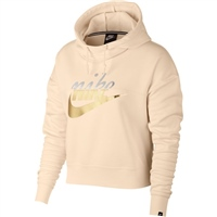 Nike Womens NSW Rally Hoodie Metallic - Peach/Metallic
