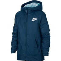 Nike Boys Full Zip Fleece Lined Jacket - Blue/White