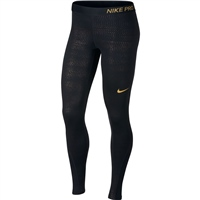 Nike Womens Metallic Dot Print Leggings - Cream/Gold