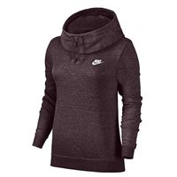 Nike Womens Fleece Overhead Hoodie - Burgundy