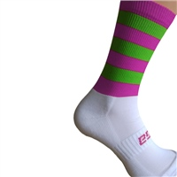 Briga Hooped Silly Socks - Fluo.Pink/Fluo.Lime