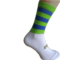 Briga Hooped Silly Socks - Royal/Fluo.Lime
