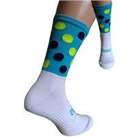Briga Polka Dot Silly Socks - Turquoise/Navy/Lime