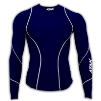 ATAK Sports Compression Shirt - Navy/White