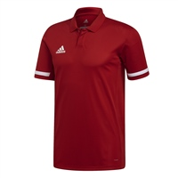 Adidas TEAM19 Polo Mens - Power Red/White