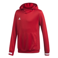Adidas TEAM19 Hoody Youth - Power Red/White
