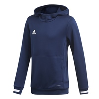 Adidas TEAM19 Hoody Youth - Team Navy Blue/White