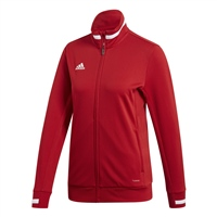 Adidas TEAM19 Track Jacket Womens - Power Red/White