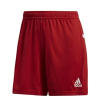 Adidas TEAM19 Knit Shorts Womens - Power Red/White