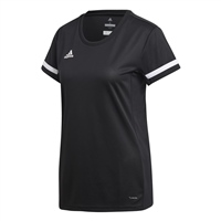 Adidas TEAM19 Short Sleeve Jersey Womens - Black/White