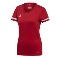 Adidas TEAM19 Short Sleeve Jersey Womens - Power Red/White