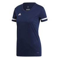 Adidas TEAM19 Short Sleeve Jersey Womens - Team Navy Blue/White