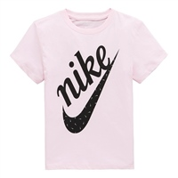 Nike Girls Icon Futura T-Shirt - Pink