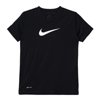 Nike Girls Swoosh Training T-Shirt - Black