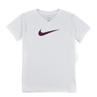 Nike Girls Swoosh Training T-Shirt - White