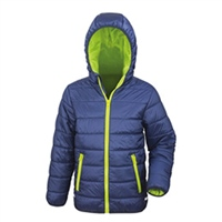 Result Childs Padded Jacket - Navy/Lime