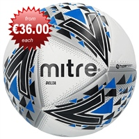 Mitre Delta Professional Football - White/Black/Blue