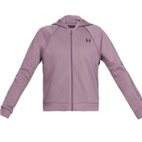 Under Armour Womens Rival Fleece Full Zip Hoodie - Purple