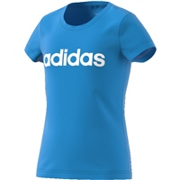 Adidas Girls Linear Big Logo T-Shirt - Sky
