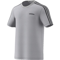Adidas Mens Essential 3S T-Shirt - Grey/Black