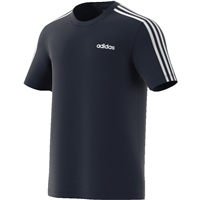 Adidas Mens Essential 3S T-Shirt - Navy/White