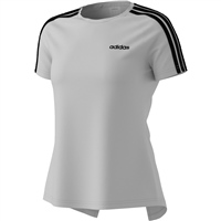 Adidas Womens D2M 3S T-Shirt - White/Black