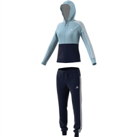 Adidas Womens Game Time Track Suit - AshGrey/Navy/White