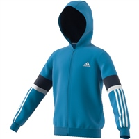 Adidas Boys Equipment Full Zip Hoodie - Cyan/Navy/White