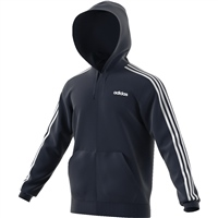 Adidas Mens 3S Full Zip Hoodie - Navy/White