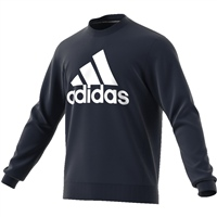 Adidas Mens BOS Crew Sweat Top - Navy/White