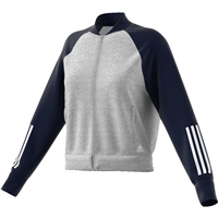 Adidas Womens SID Bomber - Grey/Navy