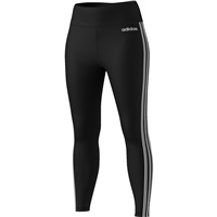 Adidas Womens D2M 3S HR Leggings - Black/White