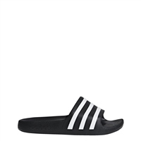Adidas Kids Adilette Aqua Slides - Black/White