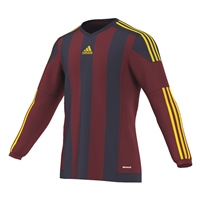 Adidas Striped15 Jersey LS - Burgundy/Navy