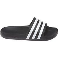 Adidas Adults Adilette Aqua Slides - Black/White
