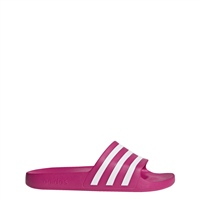 Adidas Adults Adilette Aqua Slides - Pink/White