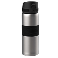 Ion8 Thermal Water Bottle - 360ml - Silver/Black